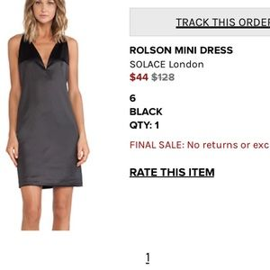 Solace London Dresses & Skirts - Rolson Mini Dress