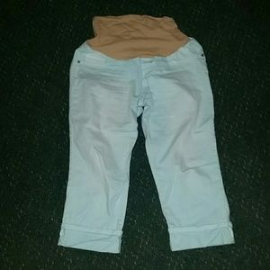 Indigo Blue Pants - Maternity Capris