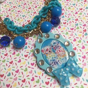 Lisa frank kawaii charm necklace 80s girls cosplay