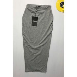 Missguided Dresses & Skirts - MissGuided Bodycon Midi Skirt Tight Gray grey