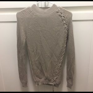 bebe Sweaters - Bebe Lace Up Sweater