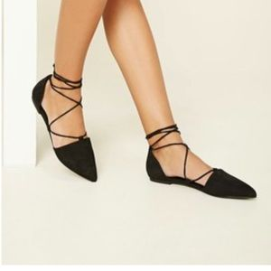 Forever 21 Shoes - Forever 21 Lace-up flats