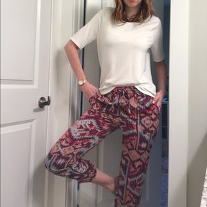 Anthropologie Lilka ikat drawstring pants