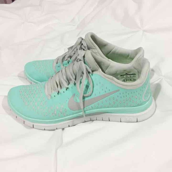 buy online 745cd fffc7 Nike Free Run 3.0 V4, Tiffany blue (teal), size 8