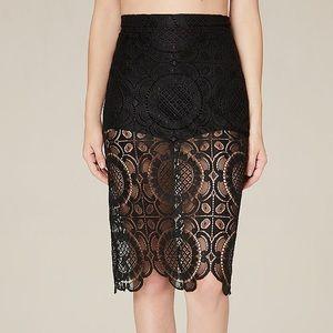 bebe Dresses & Skirts - Bebe Lace Midi Skirt