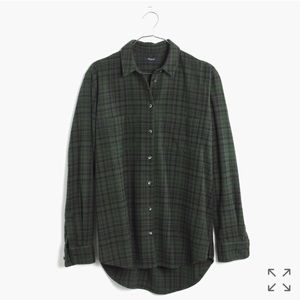 Madewell Tops - Madewell Oversized Flannel in Roland Plaid