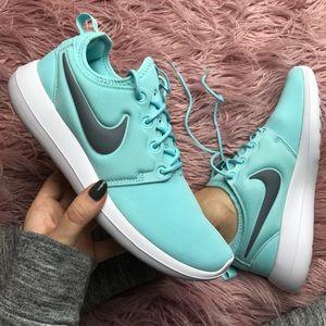 Nike Shoes - NWT Nike roshe two Tiffany blue 👗