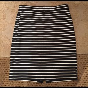 J Crew Striped Pencil Skirt