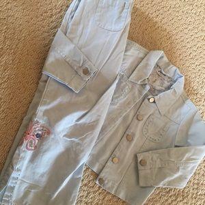 Jacadi Other - Jacadi French boutique blue 2pc set pants/jacket 4