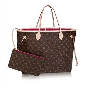 Louis Vuitton Handbags - Louis Vuitton Monogram Neverfull GM in Fuchsia