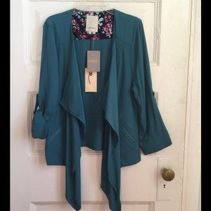 NWT Anthro open drapey jacket size M
