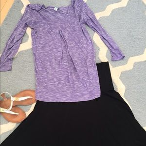 Old Navy Tops - Purple maternity shirt from Old Navy.