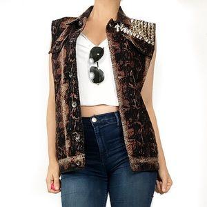 Urban outfitters kc kill city snake studded vest