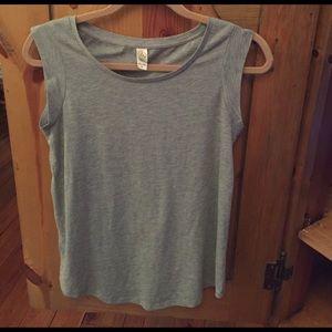 alternative Tops - Alternative Apparel Cap Sleeve Jersey Crew T-Shirt
