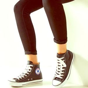 Converse Shoes - 100% Authentic real leather high top converse