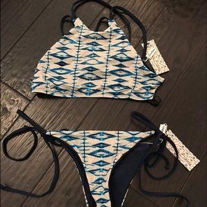 Frankie's Bikinis Swim - Frankie's Bikinis 'Marley' Bikini Set in Shibori