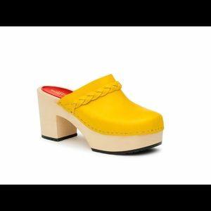 Swedish Hasbeens Shoes - NWT Swedish Hasbeens Merci Slip in yellow clogs!