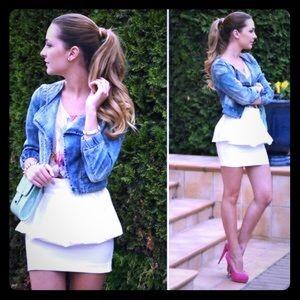NWOT Zara Ara Peplum Skirt