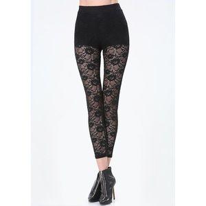 bebe Pants - Lace High Rise Leggings
