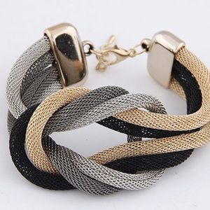 Urban Outfitters Jewelry - Tri-Color Crossover Bracelet