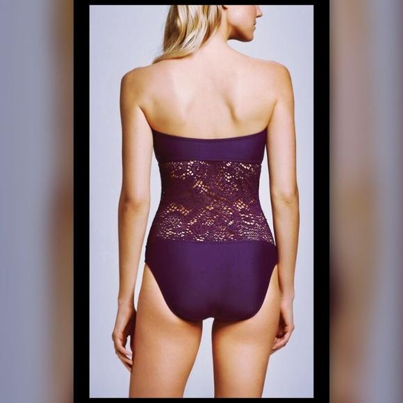 0ab8f408e4 Mossimo Supply Co. Swim | Womens Crochet Inset Bandeau One Piece ...