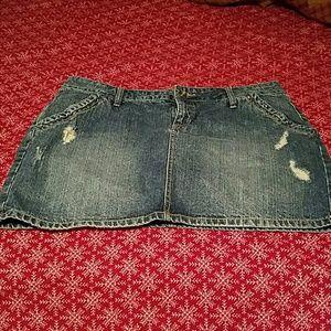 Apt. 9 Dresses & Skirts - Apt 9 distressed jean skirt