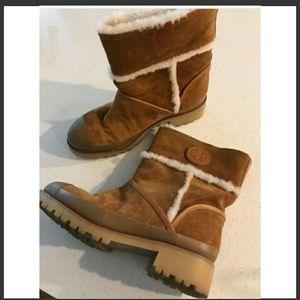 Tory Burch Shoes - TORY BURCH BOUGHTON SHEARLING BOOTIE