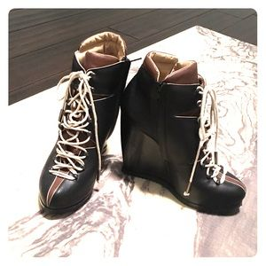 Pierre Hardy Shoes - Authentic Pierre hardy lace up wedge boots!