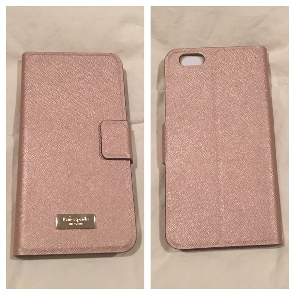 premium selection 01275 1d5e3 Kate Spade Rose Gold Folio Case iPhone 6 / 6s Plus NWT