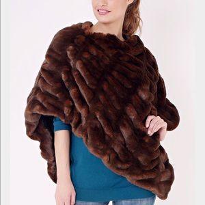 Fabulous Furs Jackets & Blazers - Mink Couture Faux Fur Poncho