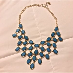 Trendy Blue and Gold necklace