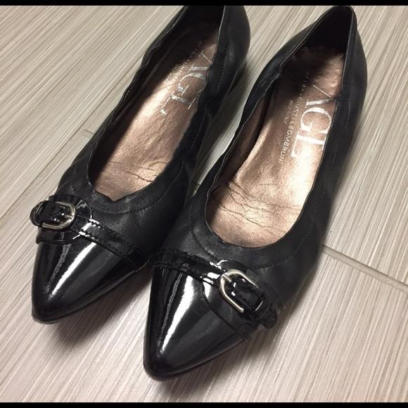 5442242747 AGL (Attilio Giusti Leombruni) Shoes - AGL classic black pointed toe flats,  37.5
