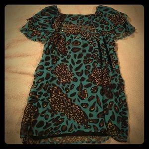 Classy animal print blouse!