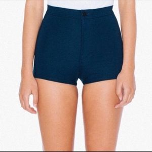 AA Ultra Compact Ponte Disco High Waist Shorts XS