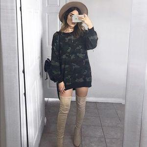 Camo Sweater Dress / Tunic