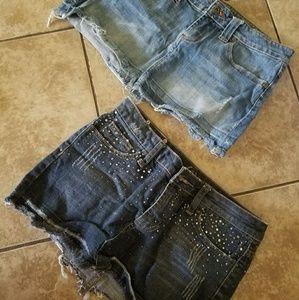 Denim - 2 mini skirts 2 in one price