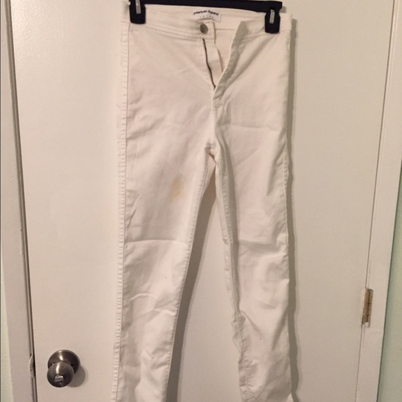 American Apparel - American Apparel white easy jeans from Vallen's ...