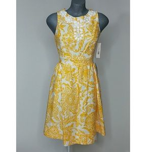 Eliza J Dresses & Skirts - Eliza J Womens Linen Dress  Yellow Size 8