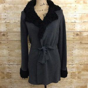 Gloria Vanderbilt Sweaters - Make any offer! Belted Sweater Wrap Jacket