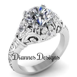 DIANNES DESIGN Jewelry - FLORAL FILIGREE RING