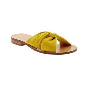 Banana Republic suede yellow sandals