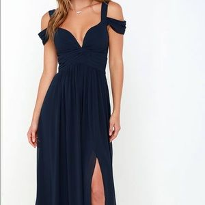Brand new Lulus navy maxi dress!