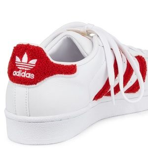 Adidas Shoes - ADIDAS SUPERSTAR Sneaker Red Chenille Trim 8.5/9