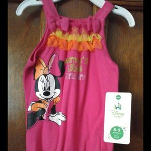 Other - Brand new disney minnie mouse 6-9 month romper.