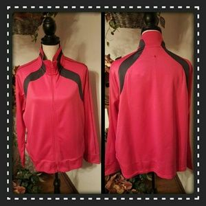 Athletic Works Tops - Athletic Works Posey Pink & Charcoal Track Jacket