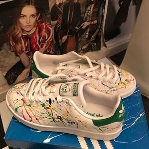 Adidas Other - Brand new Paint splatter Stan smith size 9.5