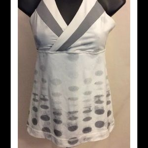 Lululemon Deep Breath Tank Seaside Dot White Sz 2