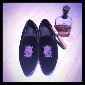 ASOS Other - House of Hounds black velvet bug loafers