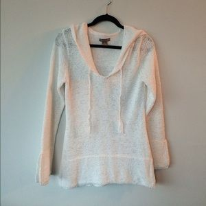 Kenar Tops - Kenar open knit/woven  white tunic