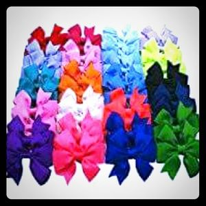 """Other - Baby Girls 2.5"""" Ribbon 20 pairs hair bows clips"""